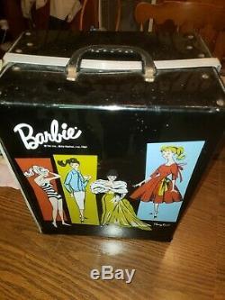VINTAGE BARBIE Bubble Cut Dolls, Trunk, Fashions, Shoes, Hats Lot VHTF Telephone