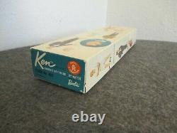VINTAGE1961 KEN DOLL #750 BARBIE'S BOYFRIEND FLOCKED BRUNETTE With ORG BOX MATTEL