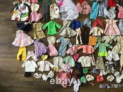 Vintage 1960's Barbie Skipper Ken Cases & Clothing Accessories Lot Free Ship