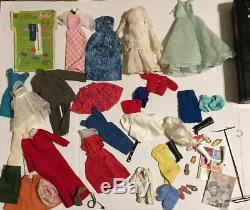 Vintage 1960s 1970s Barbie Lot Ken Ponytail Marlo Flip Malibu Clothes