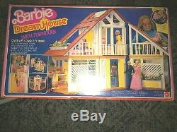 Vintage 1980's Barbie Dream House in Original Box with Furniture