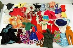 Vintage 60s Mattel Barbie Doll Clothes Lot 39 Pieces Mod Clone Homemade TLC