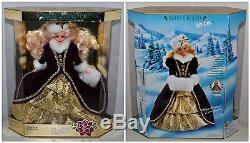 Vintage BARBIE Lot 9 Holiday Doll Collection in Boxes 90 93 94 95 96 97 98 01 02