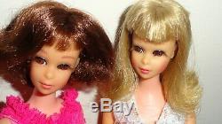 Vintage Barbie 2 Francie Dolls and Clothes Lot Sissy Suit Shoes Gorgeous Dolls