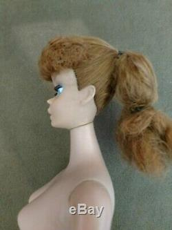Vintage Barbie Doll #4 #5 Ponytail Bright Red Head Near Mint Free Ship