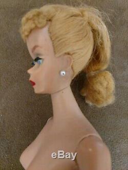 Vintage Barbie Doll #4 Blonde Ponytail Body T. M. Near Mint Free Shipping