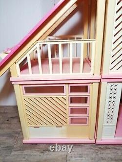 Vintage Barbie Dream House A Frame 1978 Dream Kitchen, Nursery & Furniture Lot