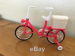 Vintage Barbie Dream House Lot- Dolls Corvette Travelin Trailer Camera Bike Tub+