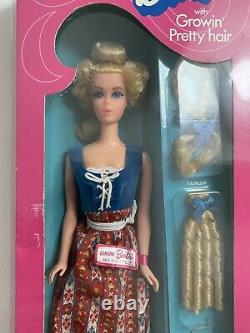 Vintage Barbie Growin Pretty Hair 1972 RARE NRFB MINT Perfect Condition
