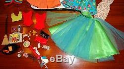 Vintage Barbie Lot 1960's Case Dolls Clothes Acces. Clean Most Exc. Cond. No Work