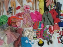 Vintage Barbie Lot Little Theatre Theater Case Dolls Clothes Francie Shoes TLC