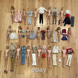 Vintage Barbie Midge Skipper Ken Allan Lot Mattel Clothes 1950s 1960s Read