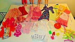 Vintage Barbie Mod Tnt Lot 4 Dolls Clothes Acces. Some Tlc Clean Display Ready