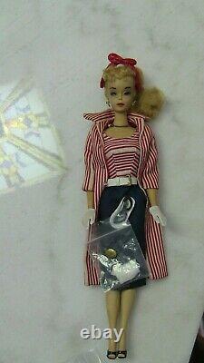 Vintage Barbie Ponytail #3 Roman Holiday Outfit hat coat necklace dress LOT
