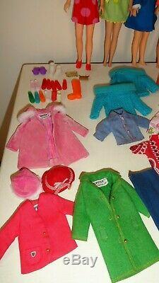 Vintage Barbie Skipper Skooter Lot Clothes Dolls Shoes Accessories Clean Vgc