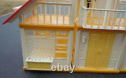 Vintage Barbie Yellow Orange A Frame Dream House #2588 1978