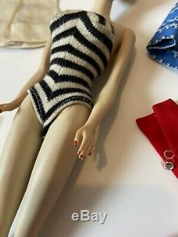 Vintage Crayon Smell Ghost Ponytail #3 Barbie Doll Lot Brown Eyeliner Blonde OSS