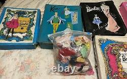 Vintage HUGE LOT Barbie Ken Dolls-Clothes-Cases and more