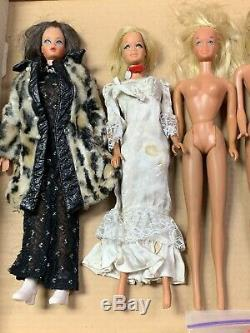 Vintage Lot 1960's Barbie Midge Skipper Dolls + Clothing