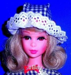 Vintage Mod 1966 Blonde Bendable Leg Francie Barbie 1130 Japan Mint