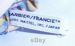Vintage Mod 1967 Barbie Francie Pretty Wild Groovy Color Magic Outfit Mint