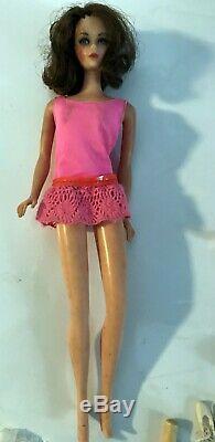 Vintage Nice Lot Skipper Barbie Vinyl Case Dolls Clothes Accessories 1963 Mattel