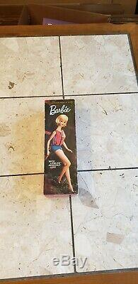 Vintage american girl barbie doll 1966 pale blonde with original box. Near Mint