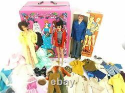 Vintage1960s Brunette Ponytail Barbie lot with1966 Twist n Turn Barbie 1960s Allan