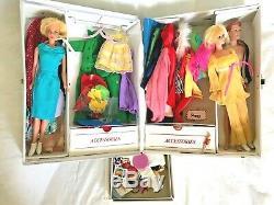 WOW! 1960s TNT Barbie Ken LOT Vintage Dolls & Case, Clothes, Shoes, Accessories