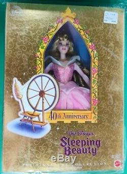 Walt Disney's 40th Anniversary Sleeping Beauty (1998) Barbie NIB Mattel