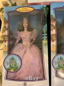 Wizard Of Oz Barbie Pink label Rare 8 Complete Set Collection